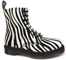 doc martens zebra druck cremefarbenes leder schwarz flock pascal stiefelletten neu wms 6 htf