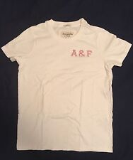 Men's Abercrombie & Fitch Tennis Short Sleeve Muscle Tee White S 100% Cotton