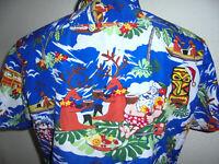 vintage Ki Peng Hawaii Hemd hawaiihemd christmas surf shirt 90s surf Gr. M