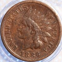 1886 TYPE 1 INDIAN CENT!