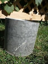 "Galvanized Bucket Insert Barn Fresh Farm House Distressed 7.5"""