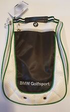 Genuine BMW Golfsport shoe carry bag with Dirt-Repellent Coating White and Green
