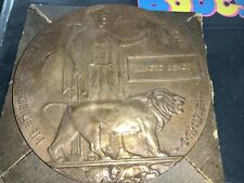 More details for world war one ww1 death penny plaque with card envelope - arnold bishop exc