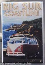 "Big Sur Coastline Travel Poster 2"" X 3"" Fridge Magnet. VW Van California"