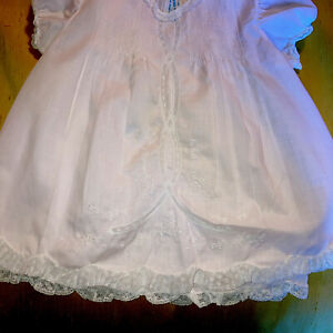 Feltman Brothers Baby Girls Pink Hand Embroidered Pleated Dress  3 mos With Slip