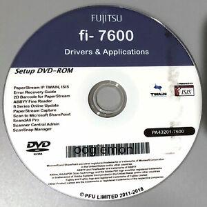 Setup DVD for Fujitsu fi-7600 - Driver Installation APP Software - Windows