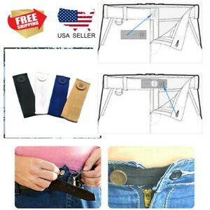 Elastic Trousers Jeans Waist Extender Maternity Pants Waistband Button Adjust