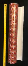 "NFL 49ers Gift WRAP PAPER  Holiday Vintage 80's (Sold by the yard & 30"" wide)"