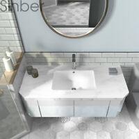 """Sinber 19"""" x 14"""" Rectangular White Ceramic Undermount Vanity Bathroom Sink"""