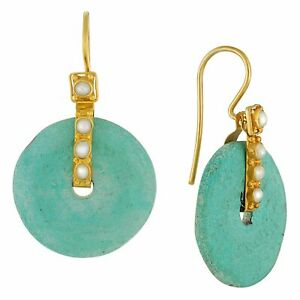Turquoise Disk Earrings : Museum of Jewelry