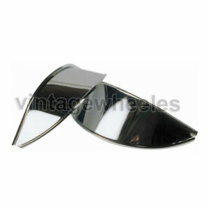 "MG Midget 7"" Headlight Lamp Peak Classic Car Polished Stainless Steel Shade"