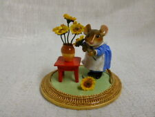 Wee Forest Folk Mouse With Sunflower A La Van Gogh Special Edition MU-2 Retired