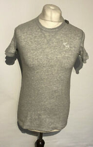 Abercrombie & Fitch Men's Shirt Grey Small Short Sleeve 100% Cotton