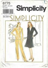 Simplicity Pattern 8775 Misses' Retro Jacket Skirt & Pants Sizes 12 to 16
