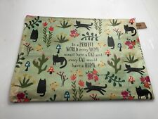"Natural Life recycled plastic zippered bag. CAT   14""x10"" Gift bag. School/work"