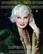 MAE WEST WEARING GREEN KIMONO ROBE 8X10 BEAUTIFUL COLOR PHOTO BY CHIP SPRINGER