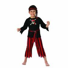 NWT 3 Piece Boy's Pirate Costume w/ Shirt, Pants & Headscarf L (10-12)