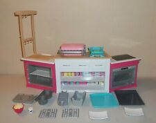 Barbie Doll Furniture - Light & Sound Ultimate Kitchen with Accessories