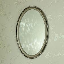 Espejos decorativos de pared plateado ovalada para el hogar
