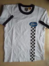 BUCO THE REAL MCCOYS black white ringer tshirt S 36 bikers langlitz leathers vtg