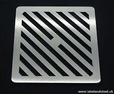 "6"" carré en acier inoxydable solide métal heavy duty drain cover gully grille grille"