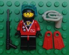 LEGO SCUBA DIVER MINIFIG lot town city diving figure 6442 6560 6558 6559 6441