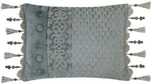 J. Queen New York Sicily Boudoir Throw Pillow in Teal