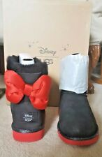 UGG DISNEY MINNIE BLACK SWEETIE BOW CLASSIC BOOTS 4 KIDS FITS 6 WOMEN LIMITED