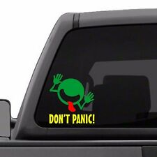 Hitchhiker's Guide To The Galaxy - Don't Panic Face - Vinyl Decal - Color