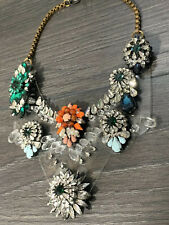 Ex Brand SHOUROUK STYLE Rainbow PVC STATEMENT NECKLACE CRYSTALS BLING
