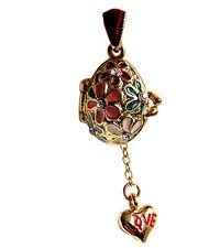 Coeur Pendentif en forme oeuf Breloque Coeur, Oeuf style Faberge pendentif Coeur