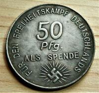 GERMAN COLLECTORS COIN AHITLER 50 PFG