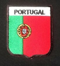 PORTUGAL PORTUGESE COUNTRY FLAG NATIONAL BADGE IRON SEW ON PATCH EURO EUROPE