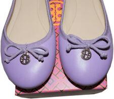 7de83af46bd686 Tory Burch Chelsea Ballerina Flat Lavender Leather Ballet Shoe Gold Charm 10