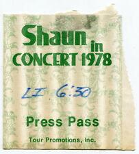 1978 Original SHAUN CASSIDY Concert Press Pass