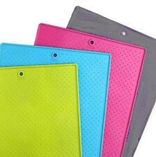 """NEW Blue, Green, Gray or Pink Grippmat for Pet Bowls (Large 17"""" x 23.5"""") - Dexas"""