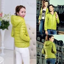 Winter Womens Slim Hooded Coat zipper Trench Jacket Parka Outwear Overcoat S-XL