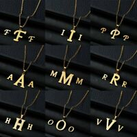 Fashion Stainless Steel Women Gold Jewelry Set Letter Pendant Earrings Necklace
