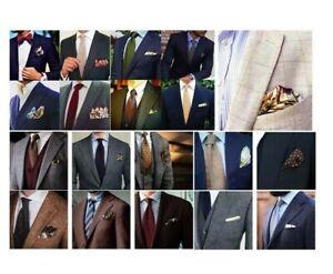 Hugo Boss pocket square silk cotton shirt suit hanky hankies handkerchief lot