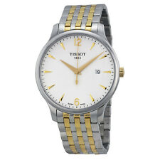 Tissot T-Classic Tradition White Dial Two-tone Mens Watch T0636102203700