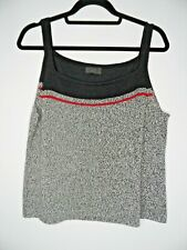SIGRID COLLECTION Knitted Vest Top Size L Cami Tank Top Lightweight Boxy