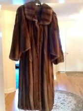 Vintage FENDI For Bergdorf Goodman Full Length Mutli-Hue Brown Mink Fur Coat