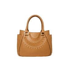WAYNE COOPER Delta Embellished Tote Handbag WH2378 New Caramel Tags