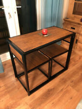 Small Dining Table 2 Chairs Kitchen Breakfast Furniture Space Saving Vintage Set