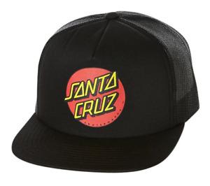 Santa Cruz Classic Dot Youth Black Trucker Hat