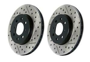 StopTech Slotted & Drilled Rear Brake Rotors for 90-01 Acura Integra GS LS GSR