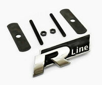 R Line Grill Badge Black Emblem Polo Passat Golf Tiguan Touareg Grille Rline New