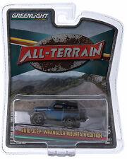 1:64 GreenLight *ALL-TERRAIN 1* Blue & Black 2015 Jeep Wrangler Mountain ED NIP!