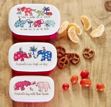 Set of 3 Elephants Design Snack Boxes