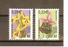 TIMBRES PREOBLITERES YVERT N° 244 à 45 COTE: € 6 FLEURS ORCHIDEES